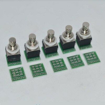 LOT10 3PDT 9-PIN Guitar Effects Stomp Switch Pedal Box Foot Metal WITH PCB