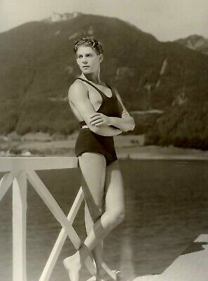 Vintage Photo 1920s Muscle Swimmer Gay Int