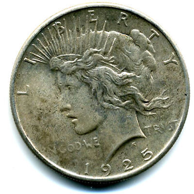 1925P MS/BU Peace 90%SILVER DOLLAR UNC/CH UNCIRCULATED MINT STATE US$1 COIN#3109