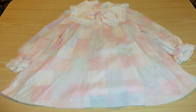 76a3d1531 Ruth of Carolina Toddler Girl's Dress - Pastel Plaid with Lace - Size 4T -  Vtg