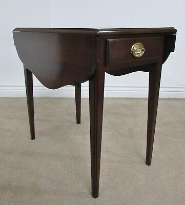 Statton Solid Cherry Pembroke Drop Leaf End Table, Old Towne Finish