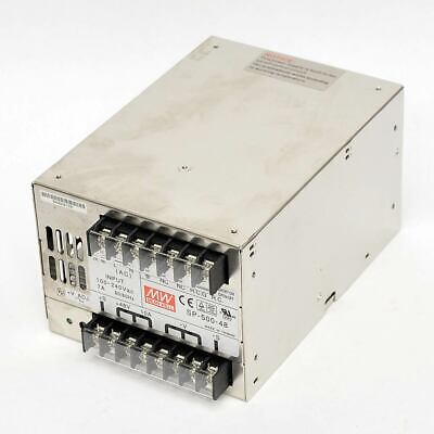 Mean Well SP-500-48 AC-DC Power Supply 48V 0-10A Output 500W Universal Input PFC