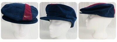 8c1839a1e6f5c Vintage 90s Nike Fitted Cabbie Golf Flat Newsboy Hat Cap Mens L Made in USA