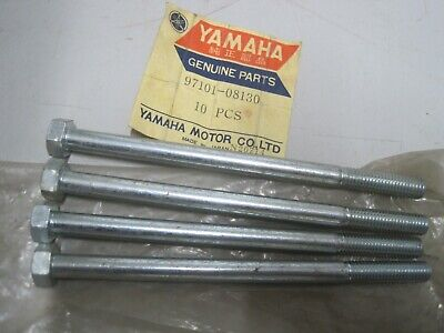 YAMAHA NOS 8mm BOLTS (4) 97101-08130  8 + 130  13mm Dome Head