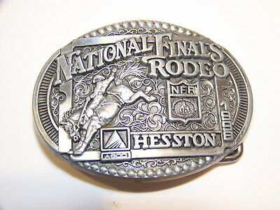 1998 National Finals Rodeo Nfr Limited Miniature Collectors Belt Buckle Hesston