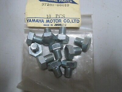 YAMAHA NOS 8mm BOLTS (10) 97201-08010 8 + 10  13mm Flat Head DT HS1 RD125 LT2 RS