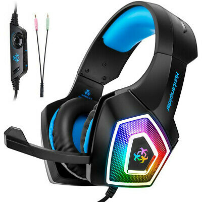 Gaming Headset with Mic for Xbox One PS4 PC Smartphone 7 LED Light