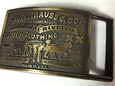 Levi Strauss & Co Belt Buckle XX Clothing Patented USA Trade Mark San Francisco