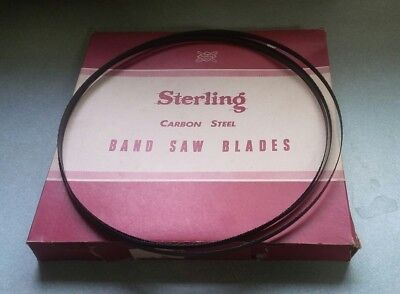 "NOS Sterling 114"" (9'6"") X 3/8"" X 10T Raker Carbon Steel Band Saw Blade USA"