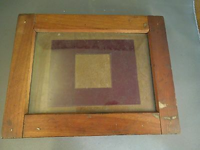 Antique Camera Photographic Print Hinged Wood Plate Holder Frame