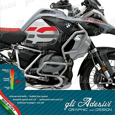 2 Adesivi Fianco Serbatoio Moto BMW R 1250 1200 gs adventure big logo red black