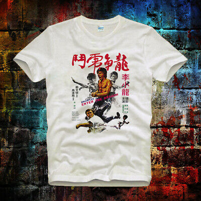 Enter The Dragon Bruce Lee 73 Movie Unisex Men Women Retro Vintage T Shirt 7b