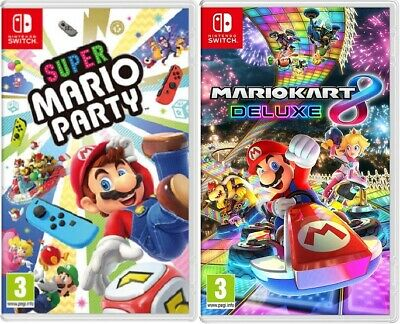 Super Mario Party  + Mario Kart 8 Nintendo Switch - BRAND NEW