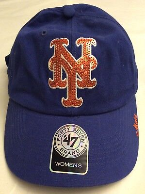 new product 9904d 8756e New York Mets Womens Ball Cap Adjustable Blue  47 Brand