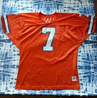 quality design 930da 41eb3 VINTAGE NFL TEAM Wilson #7 John Elway Denver Broncos Orange Crush Jersey  Size Xl