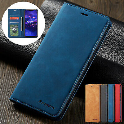 For Huawei P30 Pro Lite Case Retro Leather Flip Card Wallet Stand Magnetic Cover