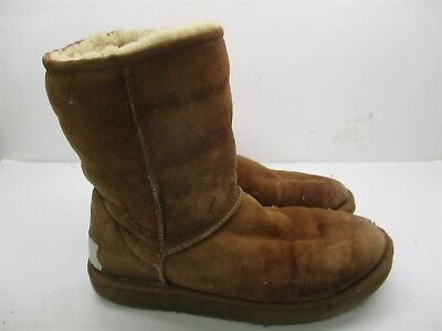 550406085ed UGG CLASSIC SHORT Croco Spice Leather Sheepskin Short Boots Size US ...