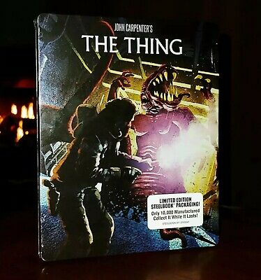 THE THING (Blu-ray, Scream Factory, 3 Discs, Limited Edition) STEELBOOK-SEALED
