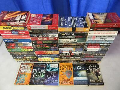 HUGE Lot of (59) THRILLER SUSPENSE MYSTERY Books CLIVE CUSSLER PATRICIA CORNWELL