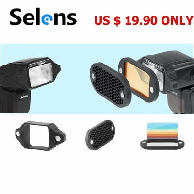 Selens Speedlight  flash Honeycomb grid High Quality with 7color gels Set $19.90