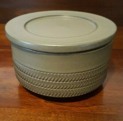 Denby Chevron Round Butter Dish And Cover 1960's Gill Pemberton