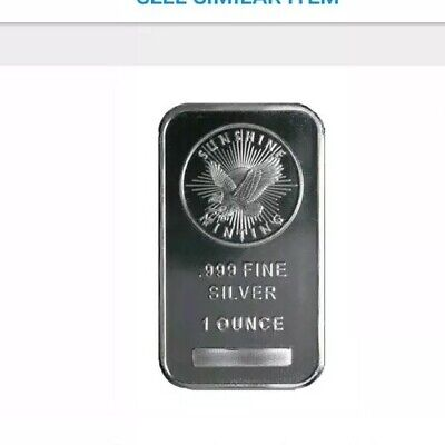 Lot of 4- 1 oz Troy Ounce Sunshine Minting Silver Bar .999 Fine Silver...sealed