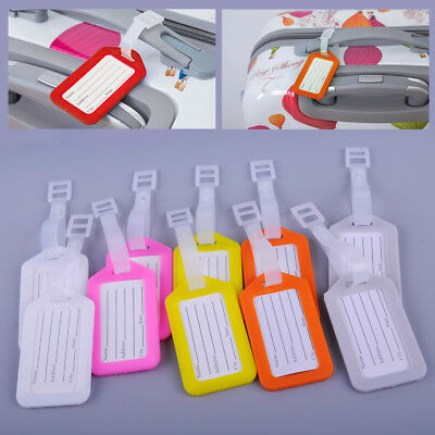 10x Travel Luggage Bag Tag Plastic Suitcase Baggage Office Name Address ID Label
