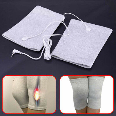 Fiber Reusable Electrical Electrode Therapy Shock Massage Knee Pads Tens Unit