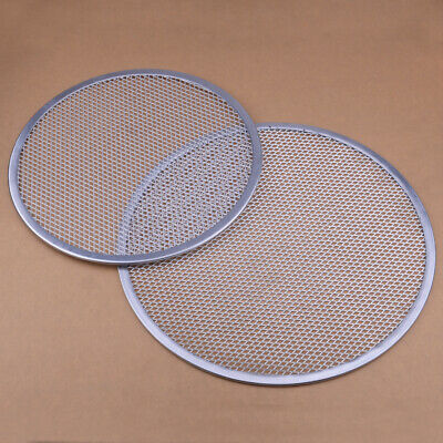 Non-stick Flat Mesh Pizza Screen Round Baking Tray Net Kitchen Tools Alu Alloy