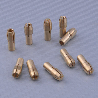 10x Brass Drill Chucks Collet Bits 0.5-3.2mm 4.8mm Dia Fit for Rotary Tool