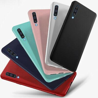 For Samsung Galaxy A50 A30 M20 Slim Frosted Soft Silicone TPU Back Case Cover