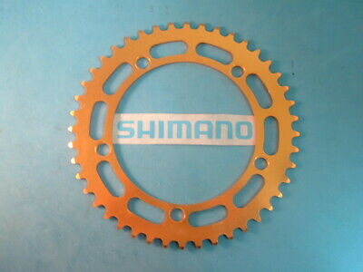 Fixie Gold Chainring Shimano 44T BMX NOS Vintage W-Cut 130BCD NEW