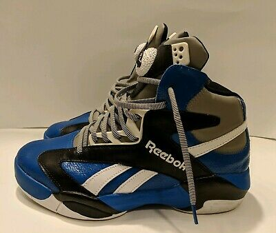 86c68e6c9f19 Reebok Shaq Attaq Shattered Backboard Pump Orlando Magic Men s Sz 8 Blue