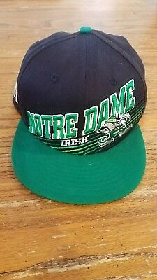 differently 7e69a 39574 Notre Dame Fighting Irish Adj Hat Cap Snapback New Era 9 fifty Spellout