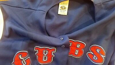 08f486be535 MLB Chicago Cubs Baseball True Fan Series Blue Red Button Down Jersey Sz XL  48