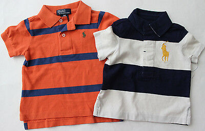 Polo Ralph Lauren 9 M Rugby Polo Shirt Top Boy's S/S LOT 2 $69 Big Pony NWT