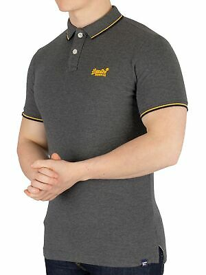 b179dd1f98bf SUPERDRY MEN'S CLASSIC Poolside Pique Poloshirt, Grey - EUR 39,05 ...