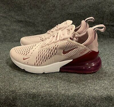 90e6959fd2 Women's Nike Air Max 270 Shoes Barley Rose PINK Vintage Wine AH6789 601 Sz 9