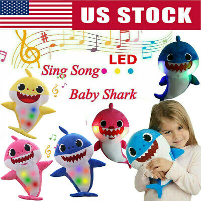 Multi Style Baby Shark LED Singing Song Plush Toys Music Doll Bag Love Gift Kids