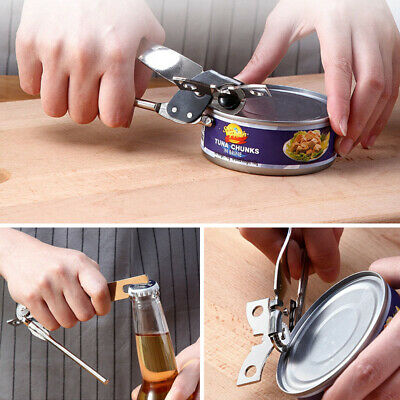 Kitchen Easy Adjustable Can Jar Opener Stainless Steel Manual Tin Bottle Openers