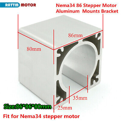 Nema34 86 Stepper Motor Mount Aluminum Alloy Bracket Holder Support CNC Router