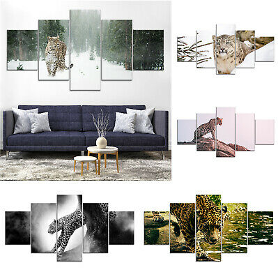 Leopard Wild Animal Canvas Print Painting Framed Home Decor Wall Art gg Poster