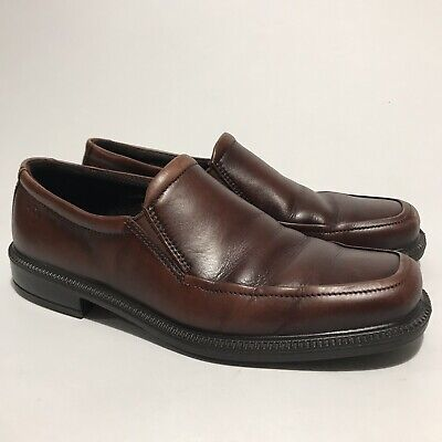 a13581b4db6c2 ECCO Mens Loafers Brown Leather Dress Shoes Slip On Size EU 42 US 8- 8.5