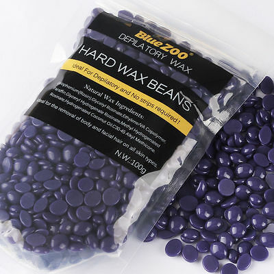 100g Depilatory Hot Film Hard Wax Pellet Waxing Bikini Hair Removal Beans