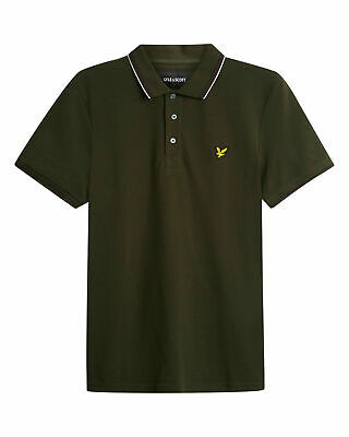 Lyle & Scott Tipped Polo Shirt Dark Sage, New! Mod-Casual-Skinhead