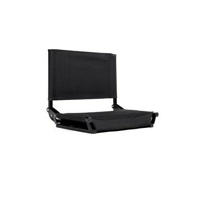 Stadium Seat by Cascade Mountain Black Color - Now Even Lighter - Under 5 LBS !