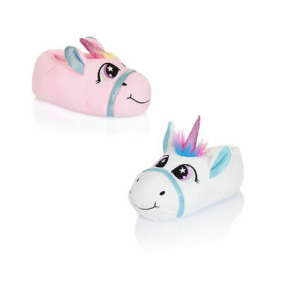 Nifty Kids 3D Magical Unicorn Slippers Girls Novelty Animal Soft Footwear