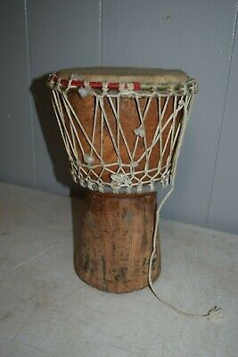 """Hand-carved African Djembe Drum - Solid Wood, Goat Skin 12"""" X 8"""""""