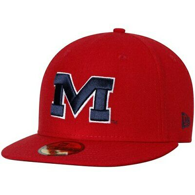 huge discount 8d1df 3dd3a New Era Ole Miss Rebels Red Basic 59FIFTY Fitted Hat