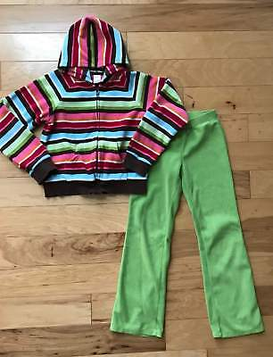 Euc Girl Gymboree Winter Cheer Fleece Jacket Hoodie Pants Set L 9 10 11 12